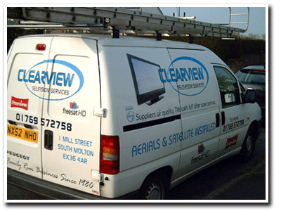 Clearview TV Services van